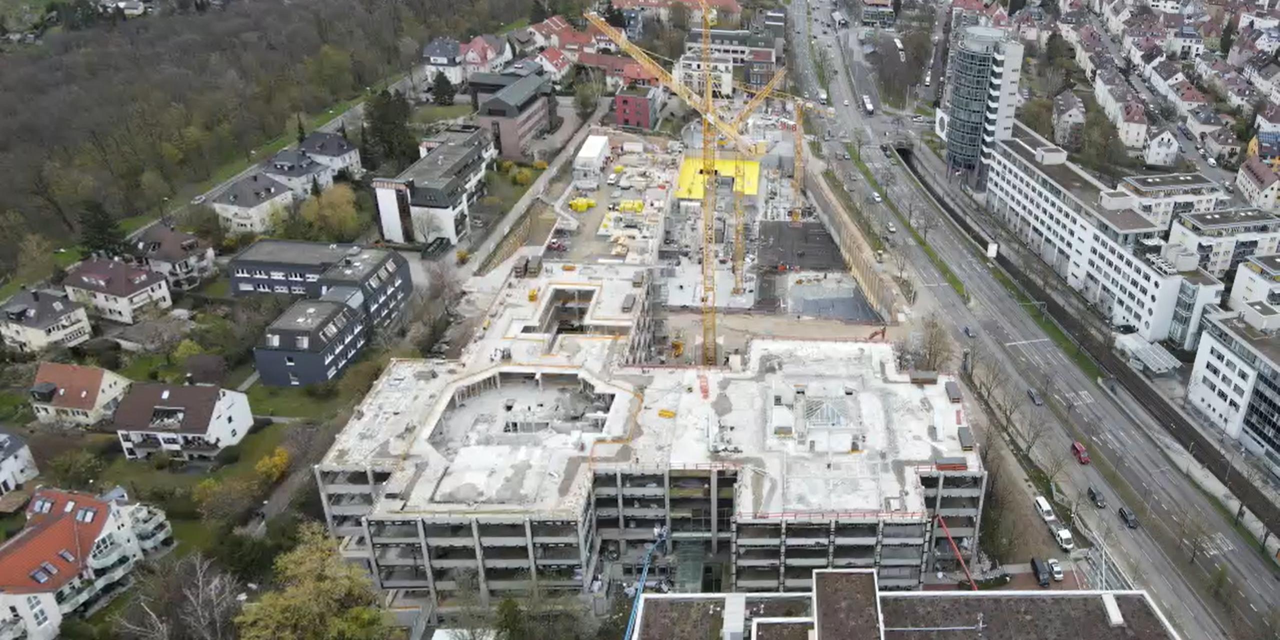 Baufortschritt Löffelstraße 34 - 38 und Löffelstraße 40 in Stuttgart-Degerloch