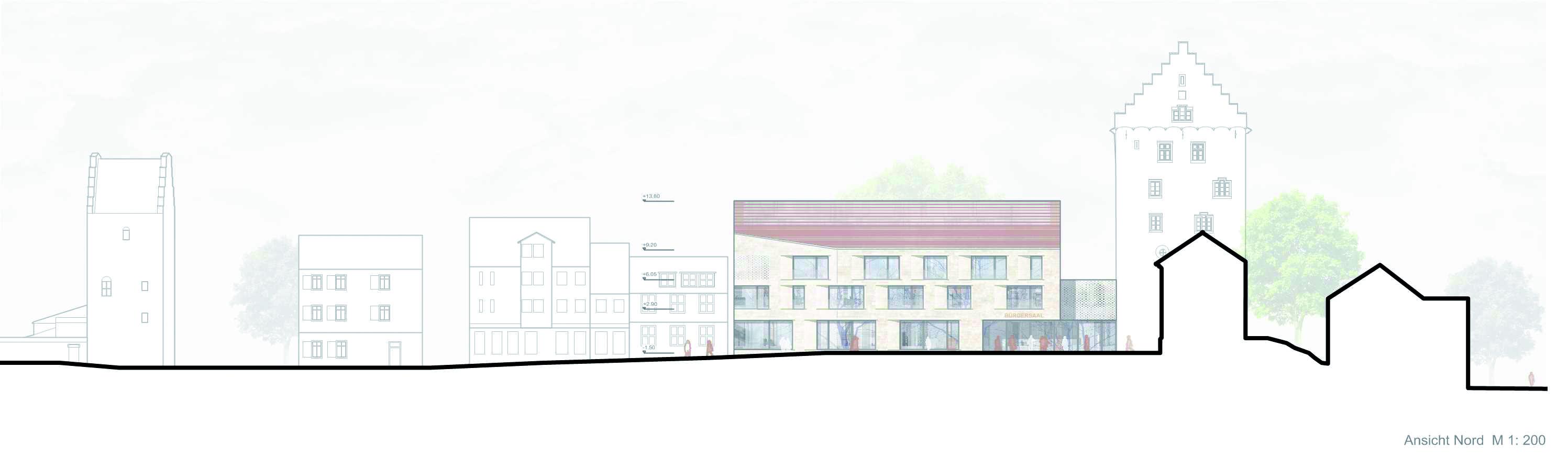 3. Preis bei nichtoffenem Planungswettbewerb Rathaus im Bischofschloss in Markdorf
