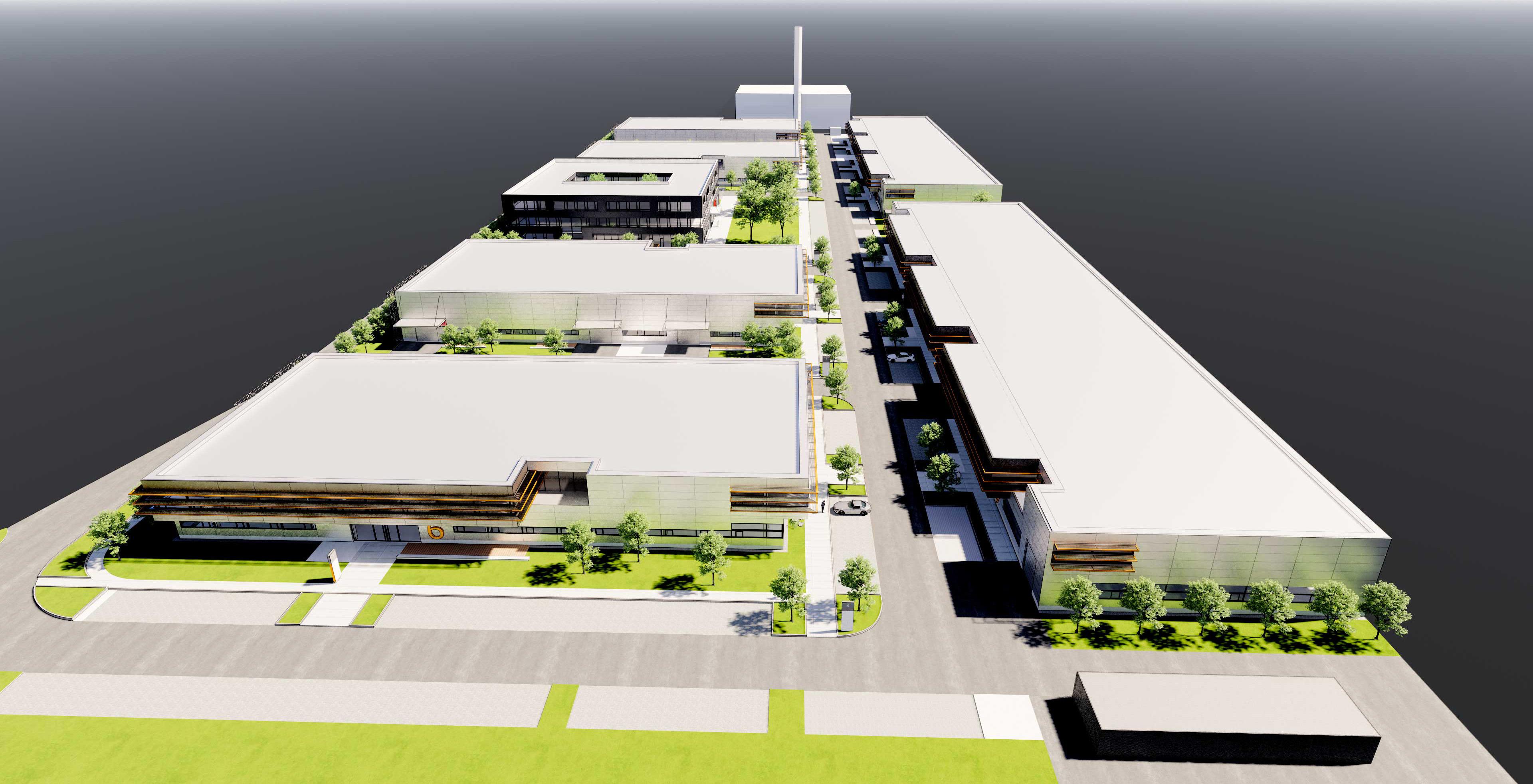 Bauantrag Aurelis Real Estate Unternehmerpark - Neubau von 7 Gebäuden für gewerbliche Nutzung