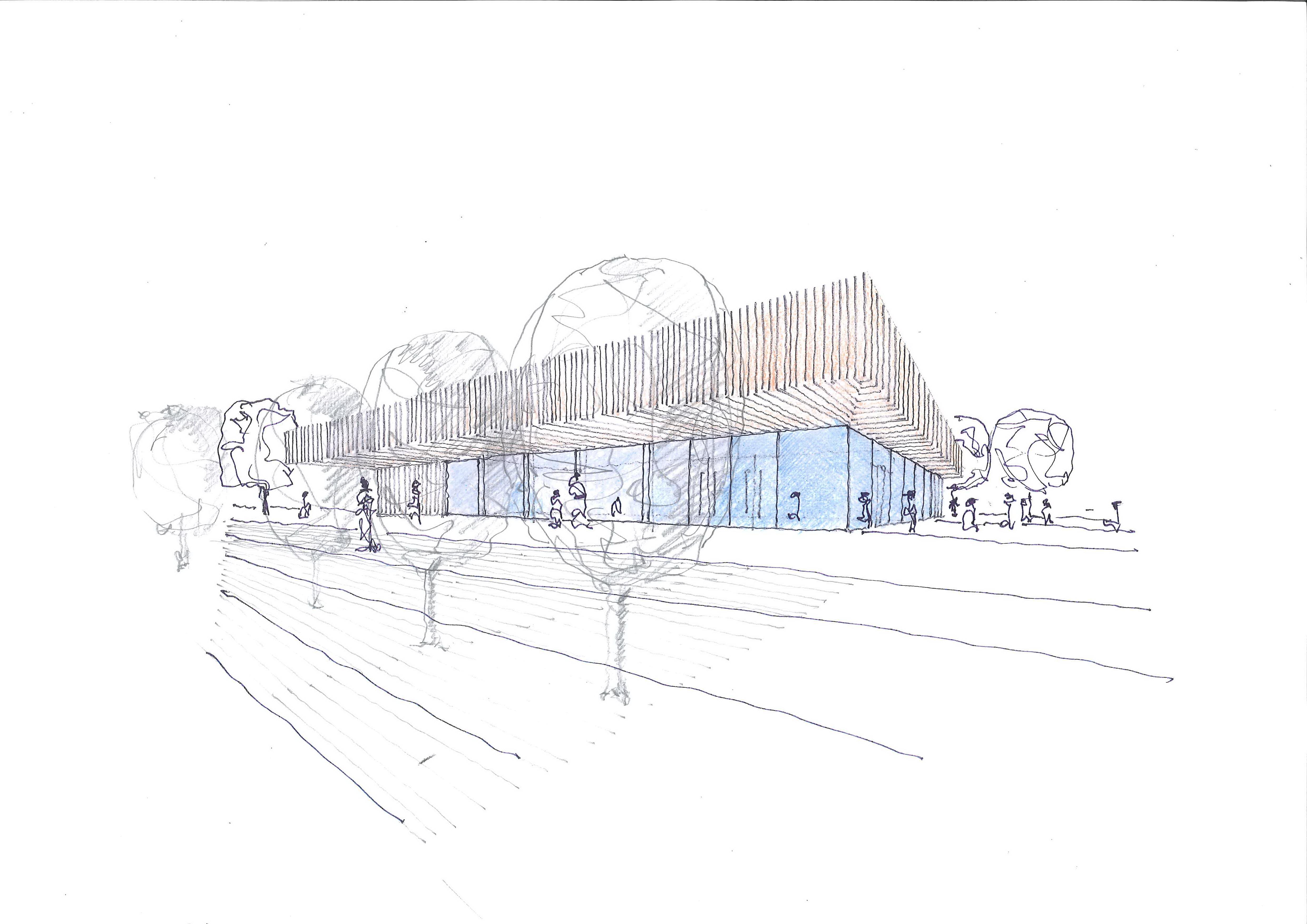 Wettbewerb Neubau einer Zweifachsporthalle 3. Preis 2